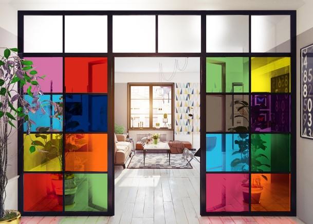 Films décoratifs couleurs pour vitrage  | Décoration intérieur